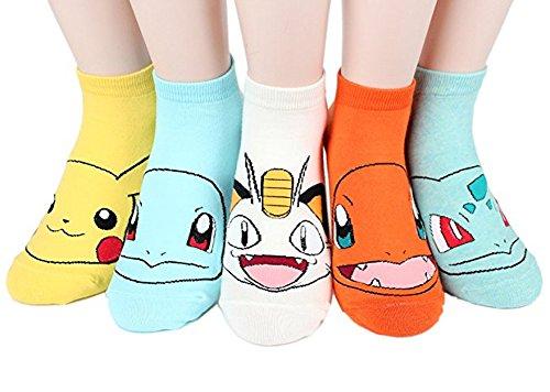Ksocks Damen Socken Set Tiere Gr. One size, Pokemon 5 Ankle