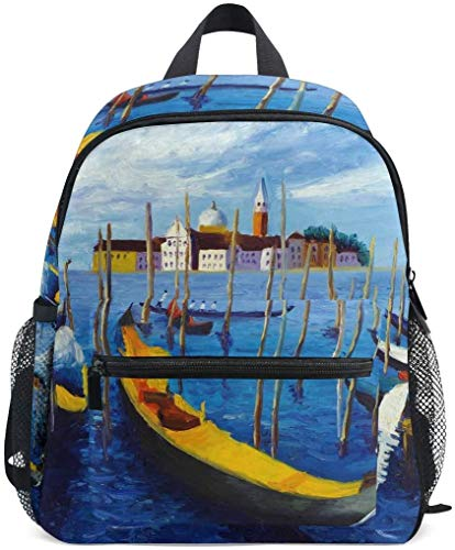 NB UUD Mini Backpack Oil Painting Venice Italy Daily Backpack for Travel