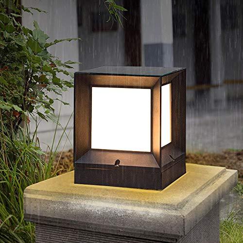 Continental Moderne eenvoudige gazonverlichting patio voortuin community LED hek licht tuin Villa Waterdichte tafellamp voor buiten E27 decoratieve lantaarn staande lamp (maat: L)