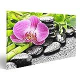 bilderfelix® Bild auf Leinwand Spa-Konzept mit Zen Steine