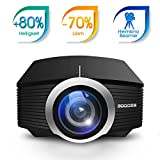GooDee 1800 Lumens Beamer, Mini Beamer Tragbare Projektor Heimkino Film Video Beamer...