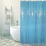 MSV Anti-Schimmel Duschvorhang Blau Anti-Bakteriell, waschbar, wasserdicht PVC 180x200cm