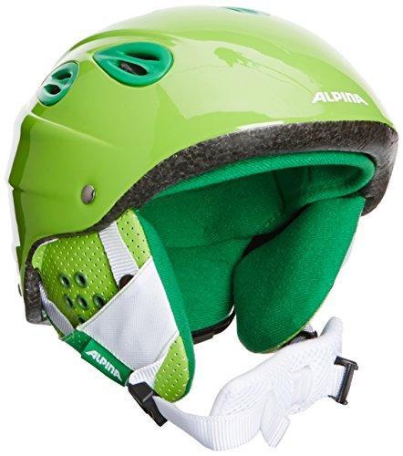 ALPINA Kinder Skihelm Grap Junior, Green, 51-54