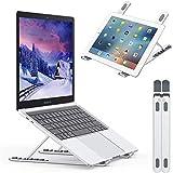 Nulaxy ノートパソコンスタンド ノートpcスタンド 折りたたみ式 アルミ製 ラップトップスタンド 6段の高さ調節可能 卓上 放熱 冷却 縦置 軽量 持ち運びに便利 優れた放熱性 40KG荷重 Macbook/Macbook Air/Macbook Pro/iPadなど10~17.3インチに対応 C4 銀色
