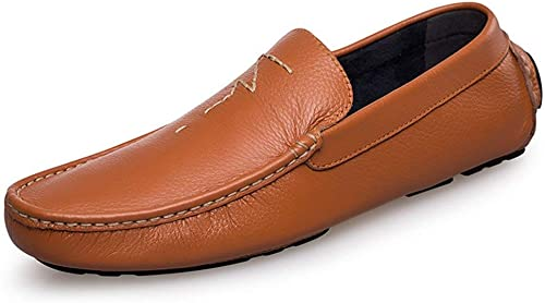 Qiusa Slip Confortable Confortable Bcourir pour Homme, Garçon, Style décontracté Penny Loafers UK 8.5 (Couleuré   -, Taille   -)