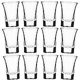 12er Pack Schnapsgläser Glas 3cl,Balance Gläser Ist Kristallklar, Eingedickte Hochwertige Snapsgläser.Für Schnapsgläser Für Vodka Tequila