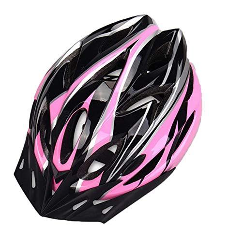 YOUCAI Robust Erwachsene Fahrradhelm, Cityhelm, Verstellbare EPS Leichte Helme Pink Schwarz M