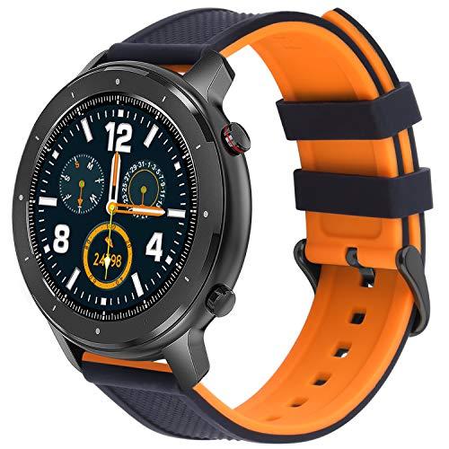 Fullmosa Correa de Reloj,Repuesto de Correa Reloj de Silicona para Huawei Watch GT 2, Watch Straps 18mm, 20mm, 22mm, Pulseras Bandas para Smart Watch Mujer,Watch Band 22mm