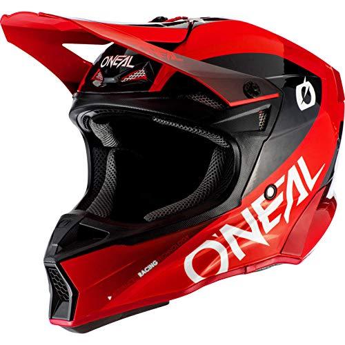 O'NEAL | Casco de Motocicleta | Moto Enduro | 2 Carcasas Exteriores y 2 EPS para Mayor Seguridad Ligera | 10SRS Hyperlite Helmet Core | Adultos | Rojo Negro | Talla XS