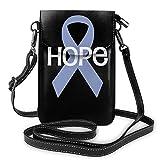 Bolsas pequeñas Hope Esofágico Bandera de conciencia de Cancelación Monedero para teléfono celular con ranuras para tarjetas de crédito Monedero Bolso de hombro para mujeres y niñas adolescentes
