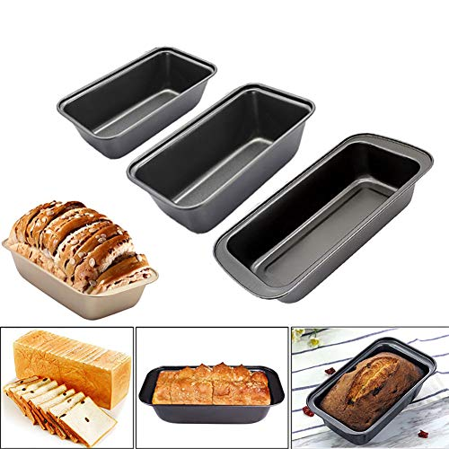 Nonstick Carbon Steel Baking Bread Pans, DIY Cake Mold Toast Mold, For Homemade Cakes, Breads, Meatloaf and Quiche (L pan 29cm)