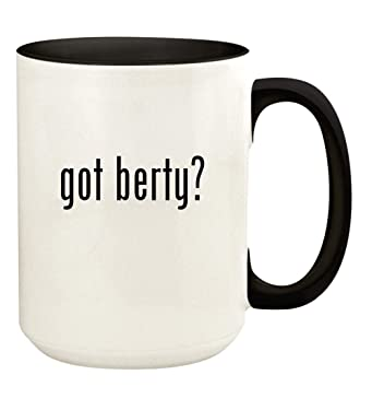 got berty? - 15oz Ceramic Colored Handle and Inside Coffee Mug Cup, Black