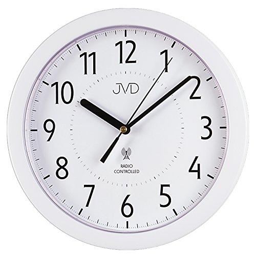 JVD RH612.13 Wanduhr Funk Funkwanduhr analog weiß rund