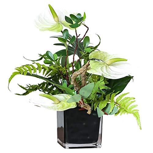 Árbol Artificial Sala de la Flor Artificial de la Flor Artificial del Flor de la simulación de Estar Decoración Decoración de Escritorio Set decoración de la Flor Planta Artificial (Color : A)