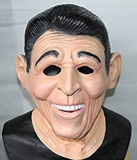 Ronald Reagan Ex President Latex Mask American Fancy Dress By The Rubber Plantation tm by The Rubber Plantation tm
