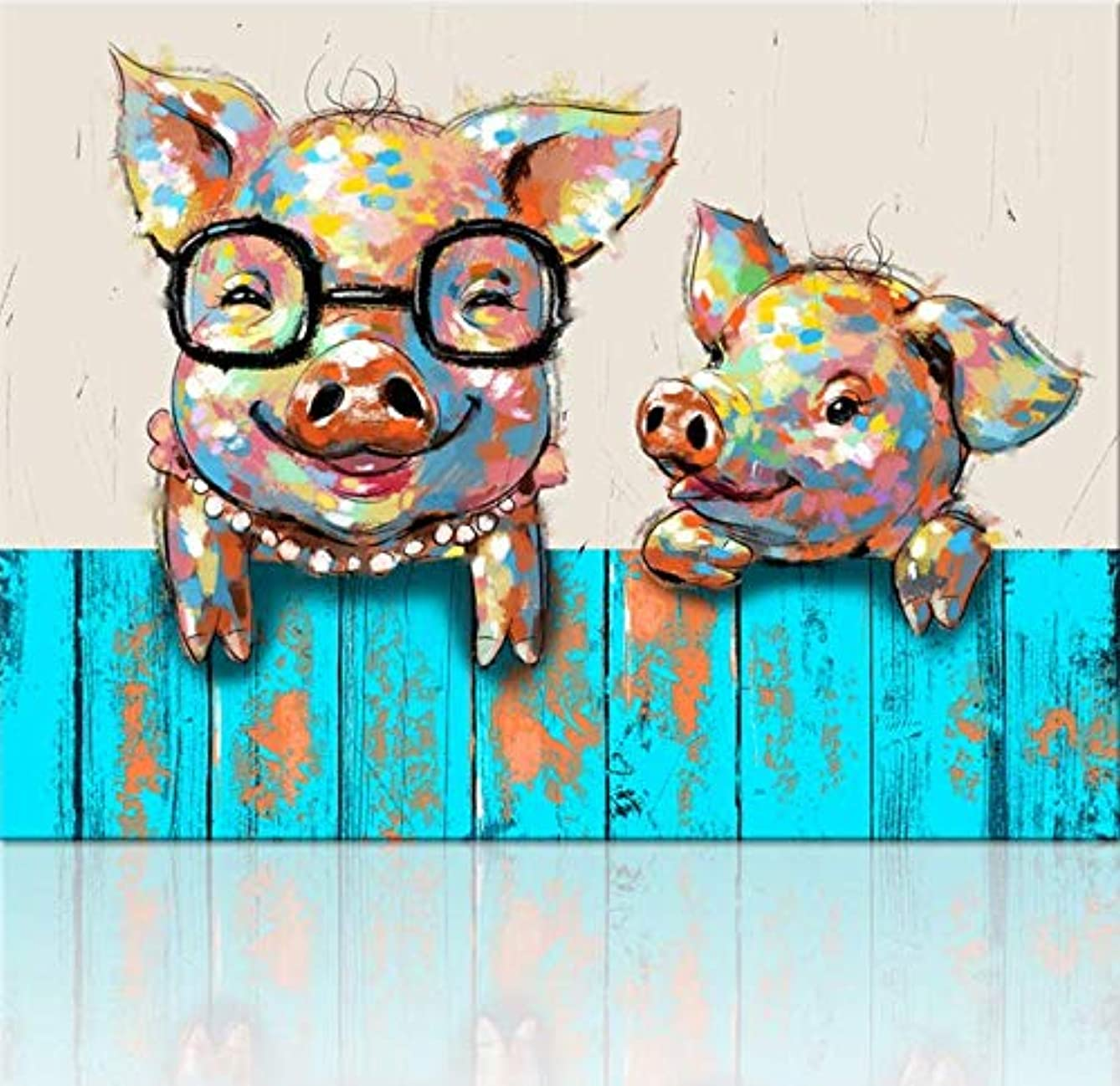 LongSing 5d Diamond Painting Kits for Adults Kids Pigs Full Drill Diamond dotz for Home Wall Decor 12x12inch(Canvas Size)