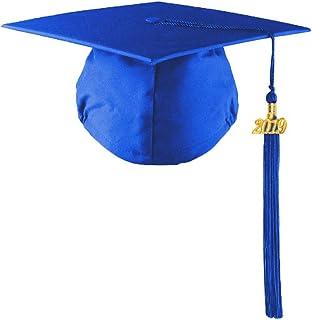 HEPNA 2019 Matte Graduation Cap with Tassel for High School College Graduates