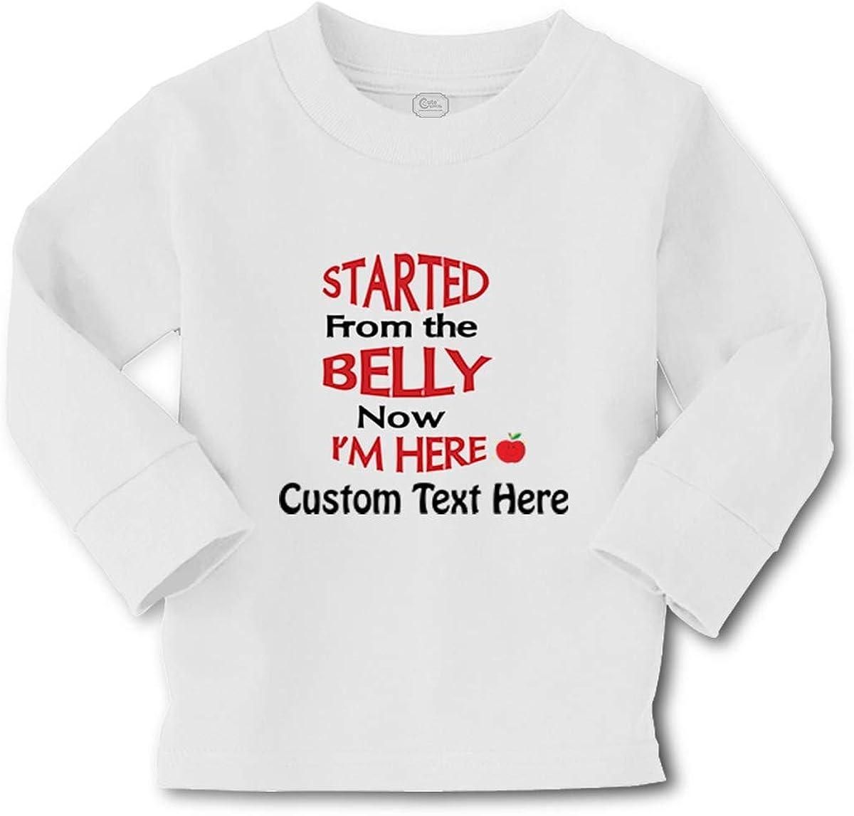 Custom Kids Long Sleeve T Shirt Belly I'm Ffunny Humor Gag Boy & Girl Clothes