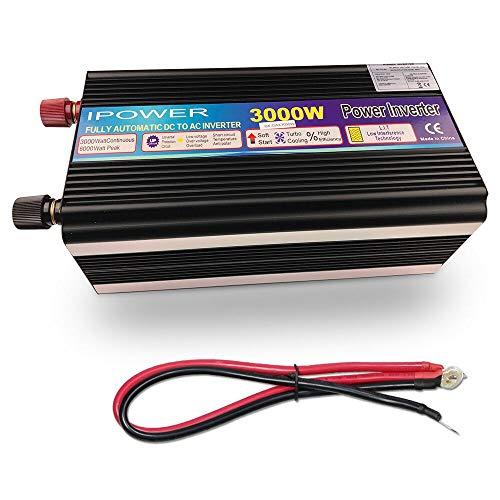 SHIJING 3000W / 6000W 12V DC op 220V - 240V AC gemodificeerde sinus omvormer met draadloze afstandsbediening dubbel stopcontact