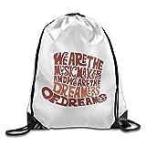 Michael Staton Unisex Willy Wonka Hut Dreams Brown Sports Drawstring Backpack Bag