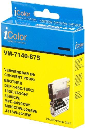 iColor Brother Dcp 195c: Tintenpatrone für Brother (ersetzt LC980/1100), Black (Brother Dcp 165c)
