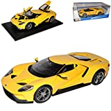 Maisto Ford GT 2017 Coupe Gelb 1/18 Modell Auto -