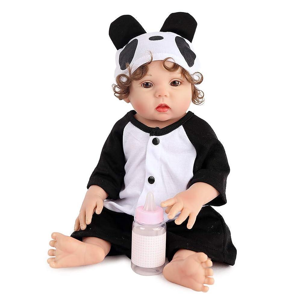 テーブルを設定するアクチュエータオーラル再生人形17インチ45センチ生まれ変わったフルビニール赤ちゃん人形用女の子リアルなソフトアライブ生まれ変わった赤ちゃん人形用子供プレイメイト
