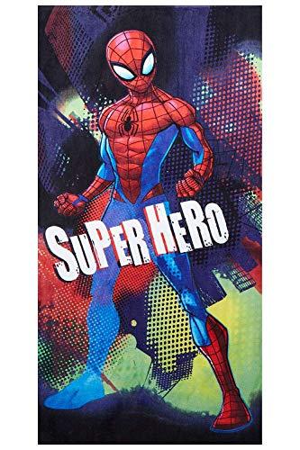 Serviette de plage Marvel Spider-Man pour enfants différents motifs 70 x 140 cm, 100% coton (Spider-Man Super Hero)