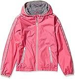 LONDON FOG Girls' Lightweight Mesh Lined Anorak Jacket, Pink Trim, 14/16