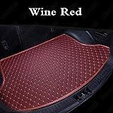 JJJJD Encargo del Cargador del Coche Esteras de Coches por Carretera troncal Liners Coches Forros de Bota (Color Name : Wine Red)