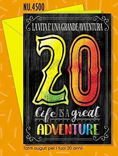Subito Disponibile Biglietto Auguri Compleanno 20 ANNI I Migliori Anni Vintage