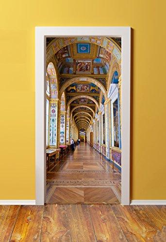 Windowpix 32x80 3D Door (Sticker) Murals - Peel & Stick - Made from Tear-Proof, Washable, Durable Material Versailles Castle Hallway Interior