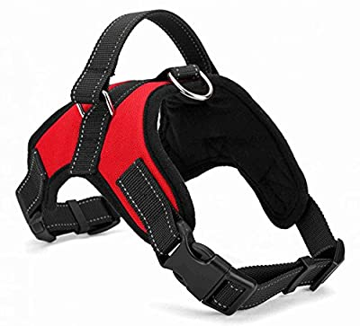 ME.FAN™ Dog Vest Harness Saddle Dog Harness Outdoor Durable Handle Adjustable and Heavy Duty Fabric Dog Training Working Collar for Small/Medium/Large/Extra Large Dog (Red)