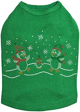 Penguin Family with Snowflakes - Christmas Rhinestone Indianapolis Mall Max 43% OFF Dog Bling