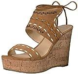 Ivanka Trump Women's Zader Wedge Sandal, Cognac, 6.5 Medium US