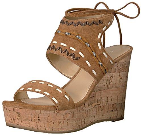 Ivanka Trump Women's Zader Wedge Sandal, Cognac, 8.5 Medium US