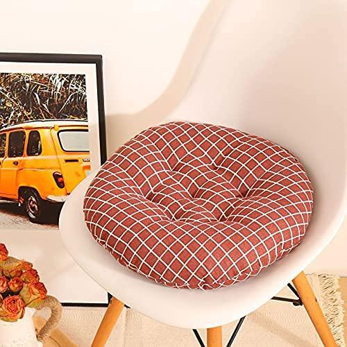 MissW Cojín Redondo con Estampado De Rayas Triangulares 40X40Cm Cojín Suave Lavable para Silla con Núcleo Adecuado para Sillas Fiestas Hoteles