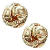 (K) ゴールドウールボール ピアス /1ペア 左右 2個 両耳 レディース キャッチピアス シンプル スタッドピアス 金色 ボヘミアン アジアン エスニック