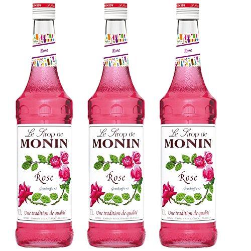 Monin Sirup Rose, 0,7L 3er Pack