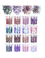 URAQT Chunky Glitter schoonheidsset voor lichaamswangen en -haar, festival- en feestgezicht en nagels. Schoonheidsmake-up