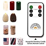Flameless Candles Flickering Flame Effect (D 3' x H 4') Auto-Moving Wick, LED Pillar Candles Real Wax with Timer and Battery Operated and Remote to Buy Separately