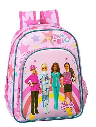 safta 612010185 Mochila pequeña niño Adaptable Carro Barbie, Rosa