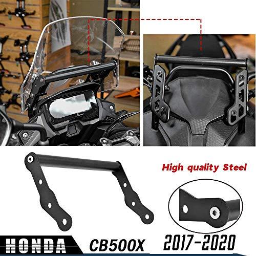 LoraBaber Accesorios para motocicletas CB500X 17 18 19 20 GPS Soporte para adaptador de montaje en navegación para teléfono inteligente Soporte para H-o-n-d-a CB 500X 2017 2018 2019 2020