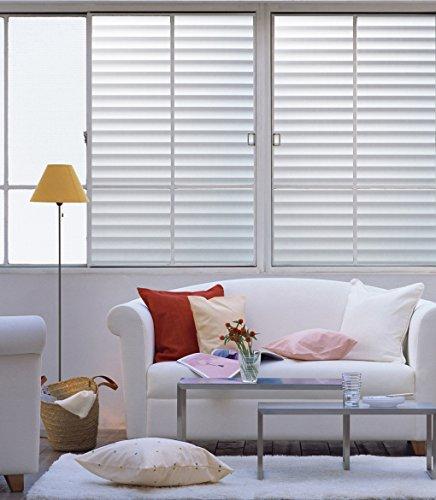 DUOFIRE Privatsphäre Fensterfolie Dekorfolie Sichtschutzfolie Ohne Kleber Selbstklebend Glas Fenster Aufkleber Anti-UV Folie (90cm X 300cm, DP040)