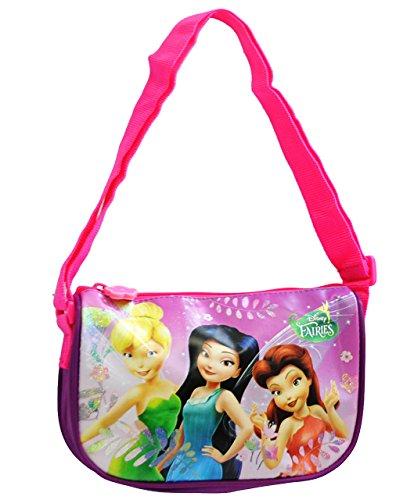 alles-meine.de GmbH Glitzer __ Umhängetasche / Schultertasche -  Disney Fairy Tinkerbell  - für Kinder abwischbar - Kind Mädchen - Kindergartentasche - klein / Tragetasche Kind..