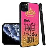 Queen iPhone 11 Pro Phone Case Black TPU Protective case Shockproof Non-Slip Soft Designed Queen case for iPhone 11 Pro
