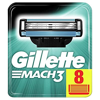 Gillette Mach3 Razor Blades for Men with Stronger-Than-Steel Blades, 8 Refills (Packaging May Vary) from Gillette