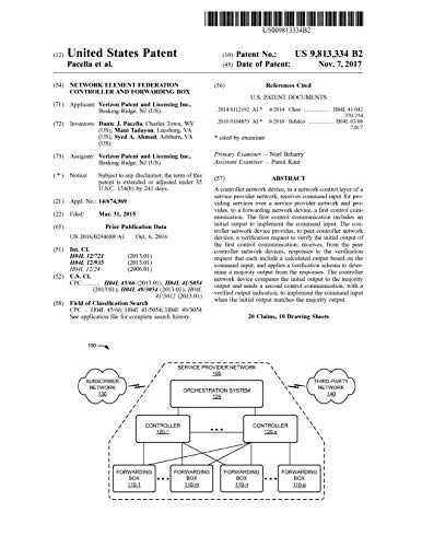 Network element federation controller and forwarding box: United States Patent 9813334 (English Edition)