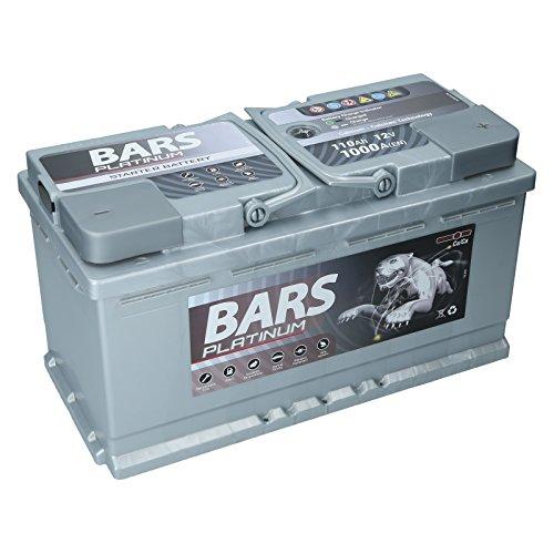 Autobatterie 12V 110Ah 1000A Bars Platinum Starterbatterie Wartungsfrei