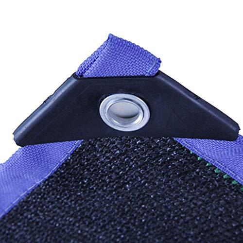 WYJW 90% zwart UV-bestendig schaduw doek voor blauwe randen, Sunblock Premium schaduw board met gaas schaduw met oogjes (grootte: 5x15M) 8x20m